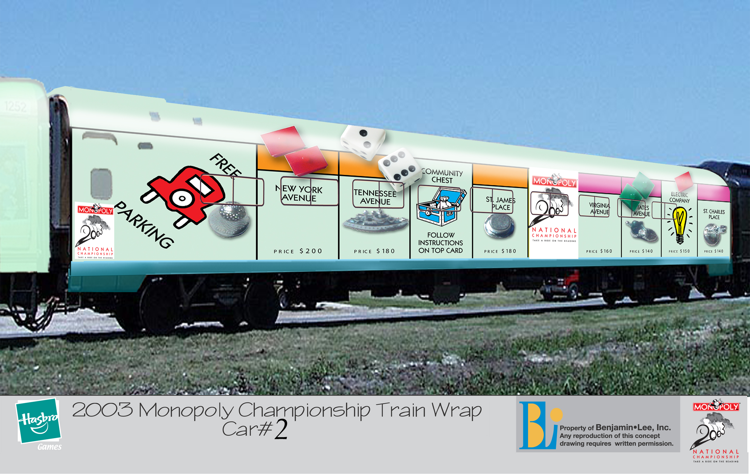 Monopoly Train Wrap
