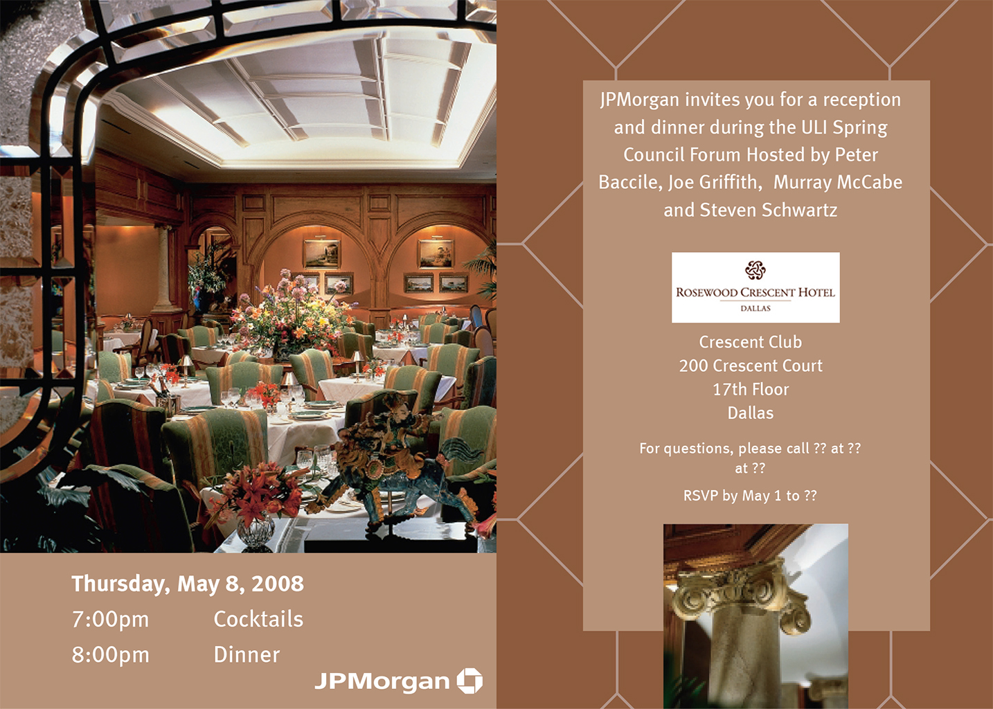 Crescent Club Dinner Invite
