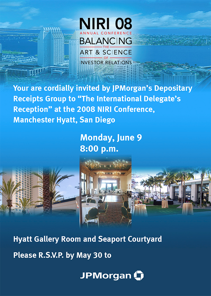 NIRI Reception invite