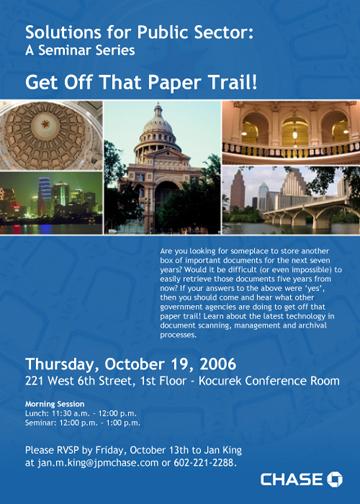 Austin Texas Seminar Invite