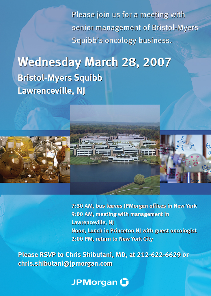 Bristol Myers Invite