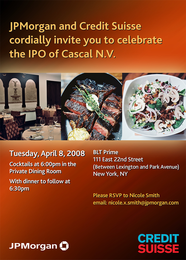 Cascal Closing Dinner Invite