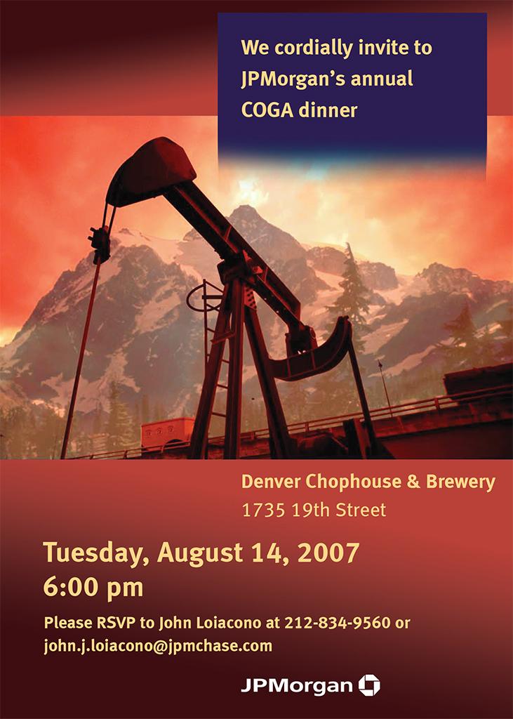 Energy Dinner Invite