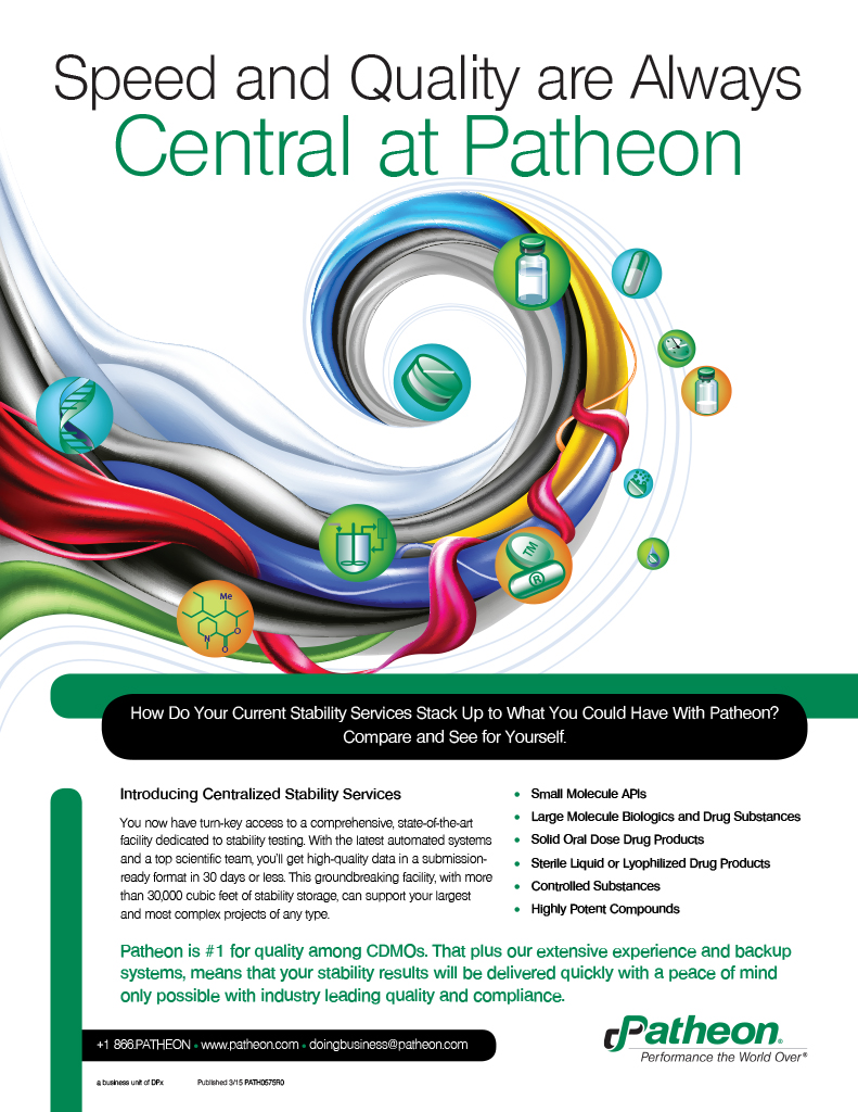 Central Stability Lab Ad for Patheon Inc.