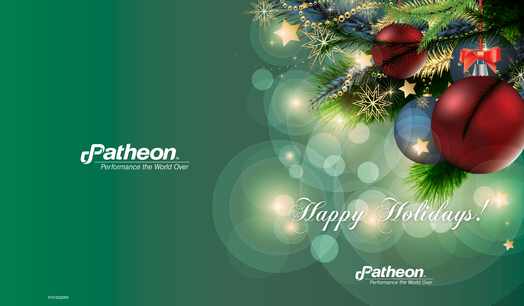 Patheon Holiday Card